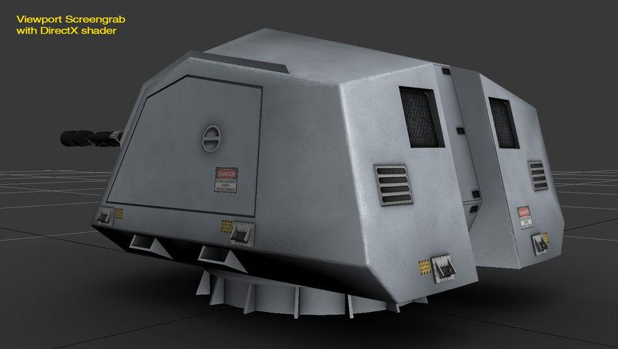 デネル35mmデュアルパーパスガン royalty-free 3d model - Preview no. 16