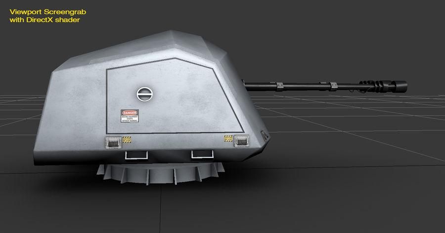 デネル35mmデュアルパーパスガン royalty-free 3d model - Preview no. 18