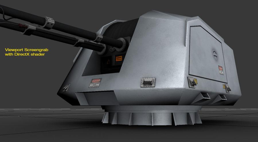 デネル35mmデュアルパーパスガン royalty-free 3d model - Preview no. 21