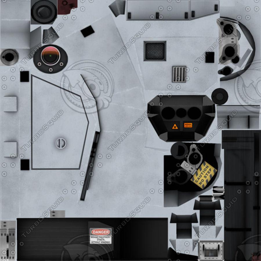 デネル35mmデュアルパーパスガン royalty-free 3d model - Preview no. 23