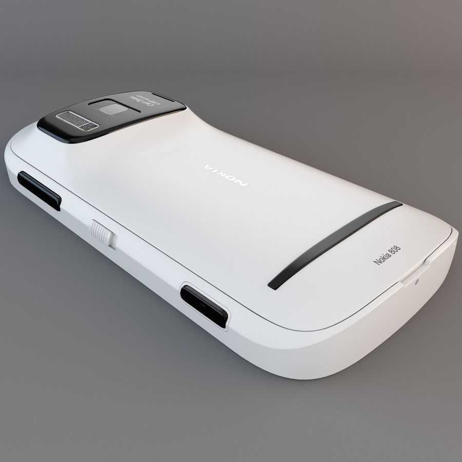 Nokia 808 PureView White royalty-free 3d model - Preview no. 15
