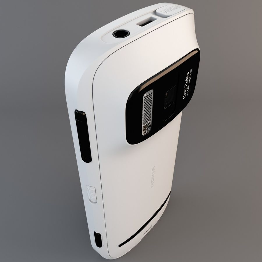 Nokia 808 PureView White royalty-free 3d model - Preview no. 10