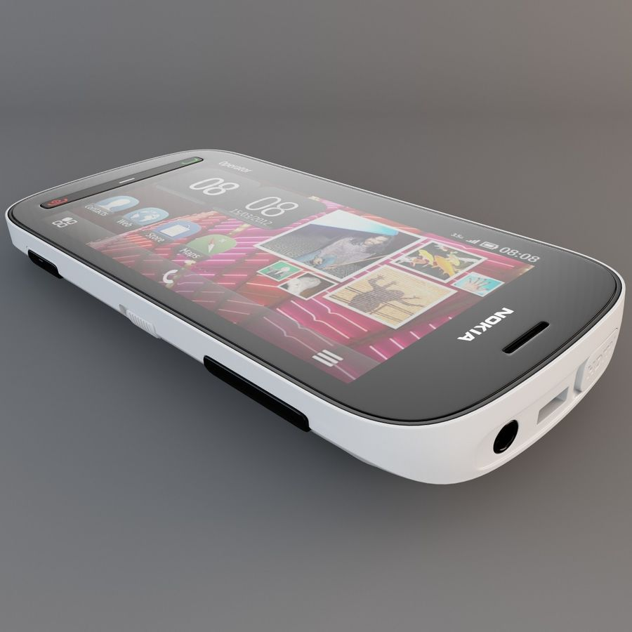 Nokia 808 PureView White royalty-free 3d model - Preview no. 14