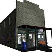 复古邮局 3d model