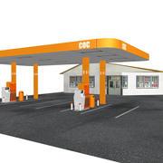 加油站 3d model
