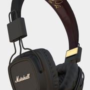 마샬 헤드폰 3d model