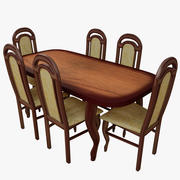 Stół i krzesła 3d model