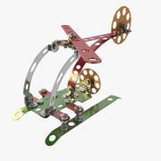 Metal Plane Toy 3d model