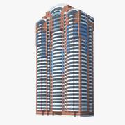 Bostadsröd byggnad 3d model