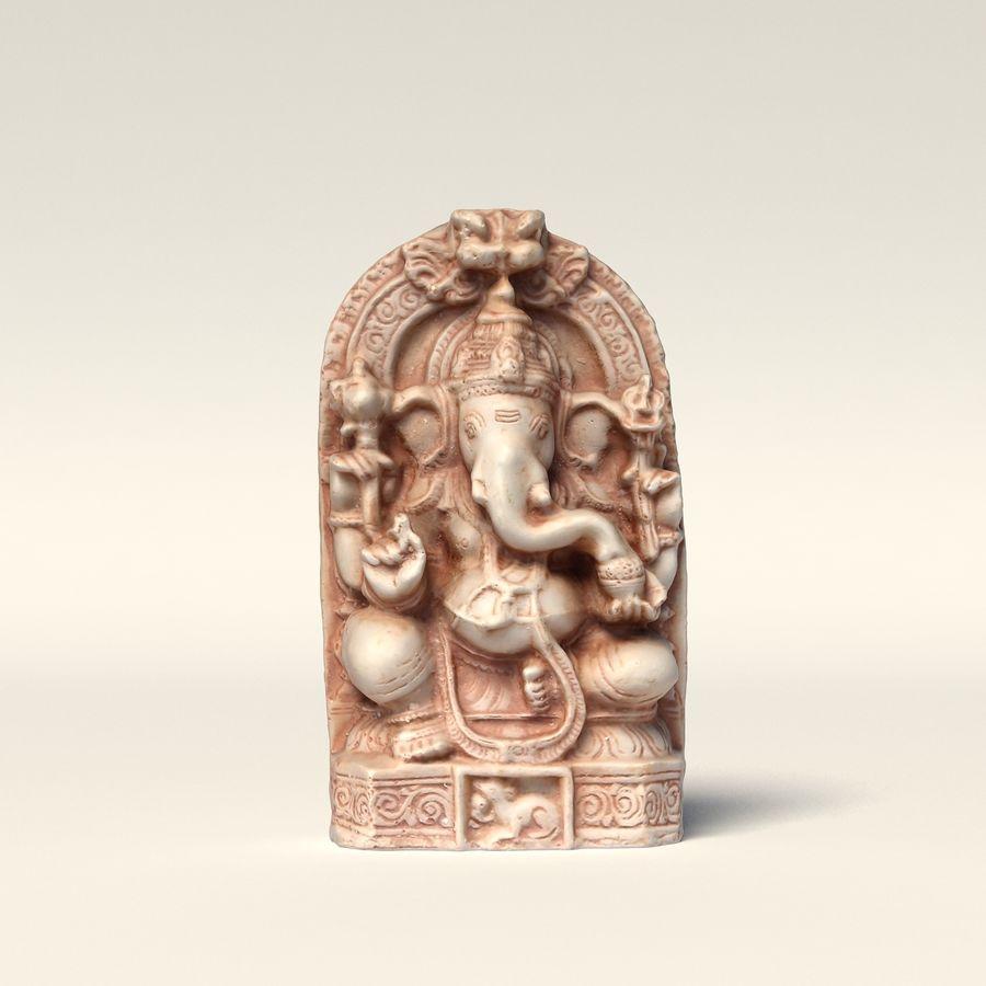 Ganesha-statyett royalty-free 3d model - Preview no. 3