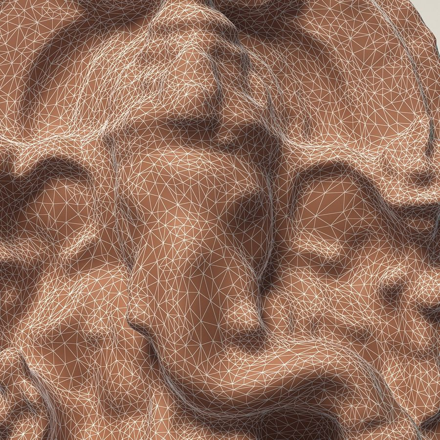 Ganesha-statyett royalty-free 3d model - Preview no. 14