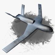 General Atomics Avenger Predator C - Wrecked 3d model