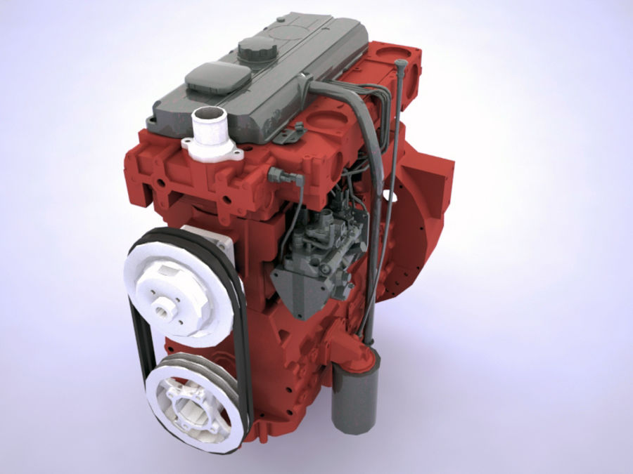 Motor LKW royalty-free 3d model - Preview no. 3