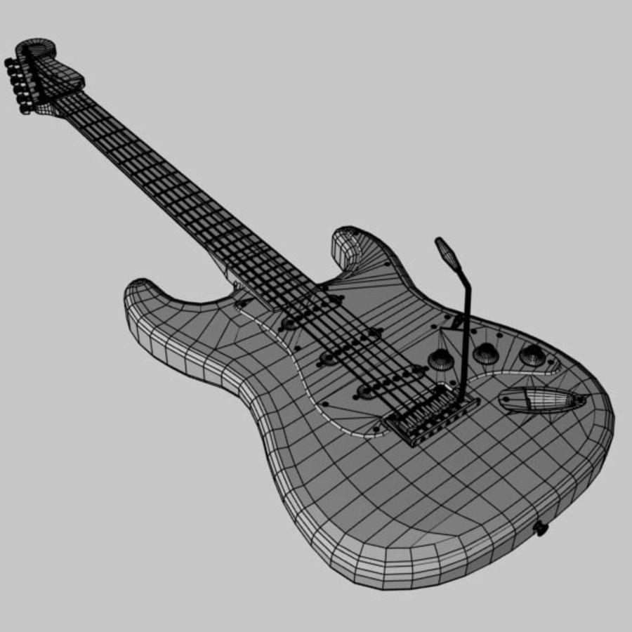 Stratocaster Sunburst royalty-free 3d model - Preview no. 12