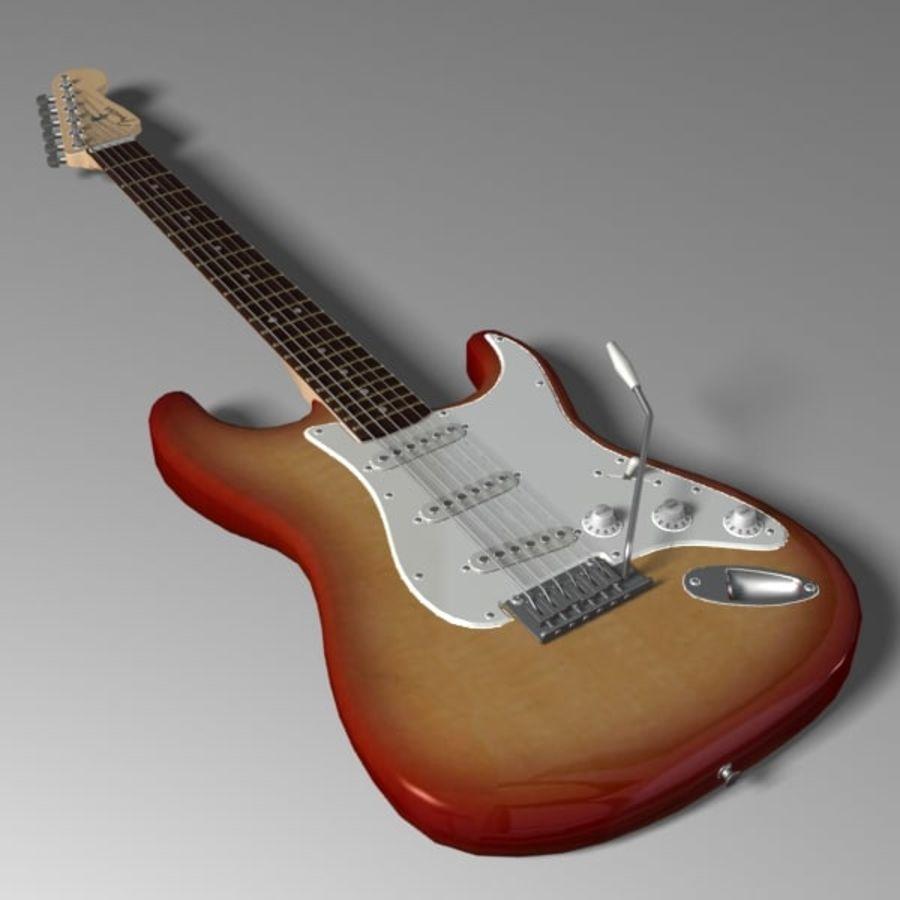 Stratocaster Sunburst royalty-free 3d model - Preview no. 1