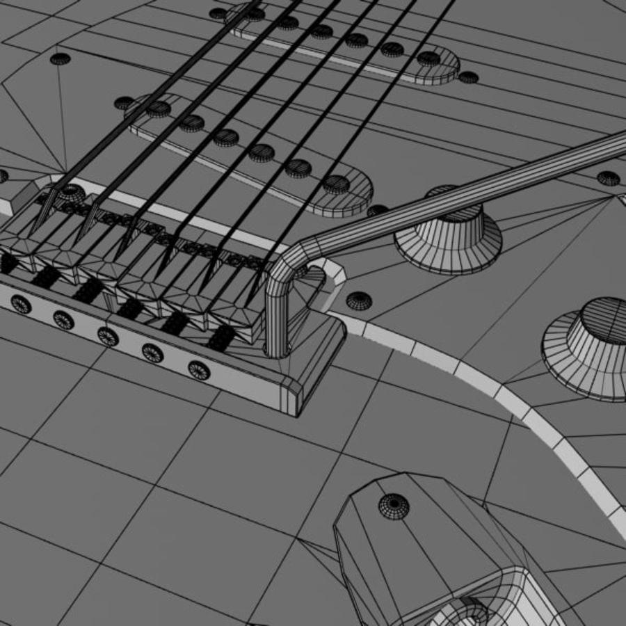 Stratocaster Sunburst royalty-free 3d model - Preview no. 13