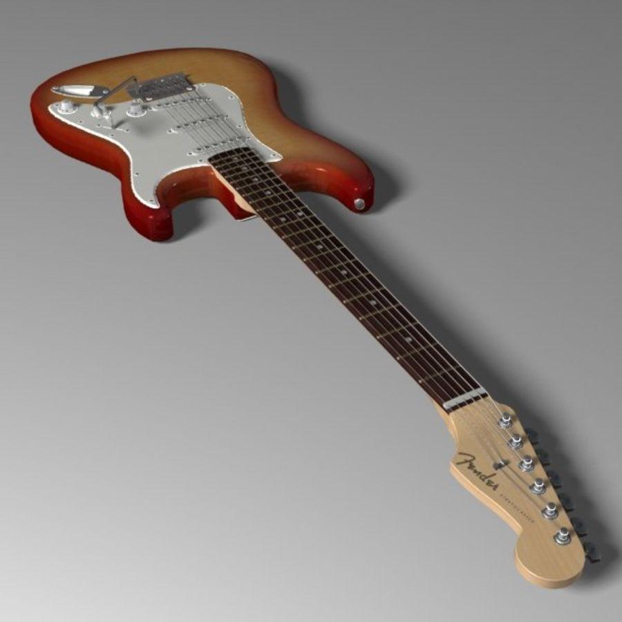 Stratocaster Sunburst royalty-free 3d model - Preview no. 4