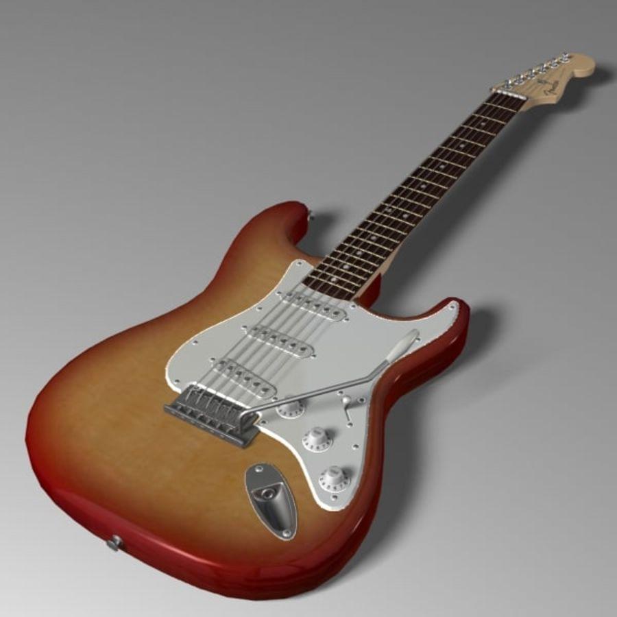 Stratocaster Sunburst royalty-free 3d model - Preview no. 3