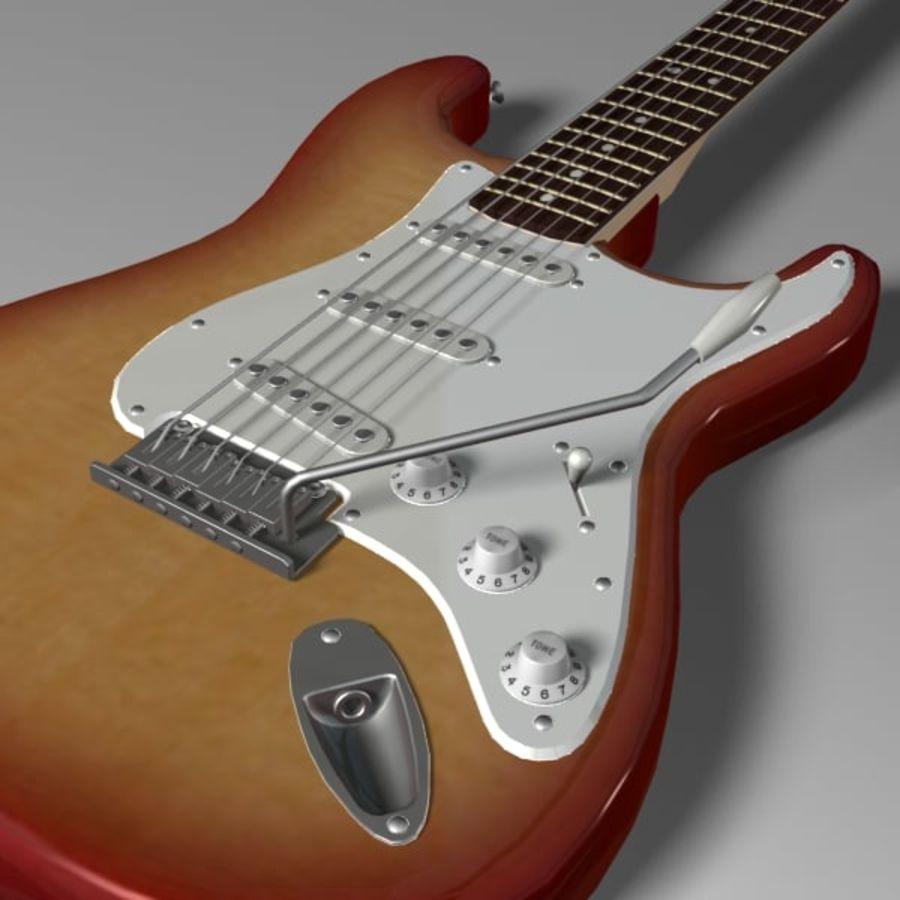 Stratocaster Sunburst royalty-free 3d model - Preview no. 7