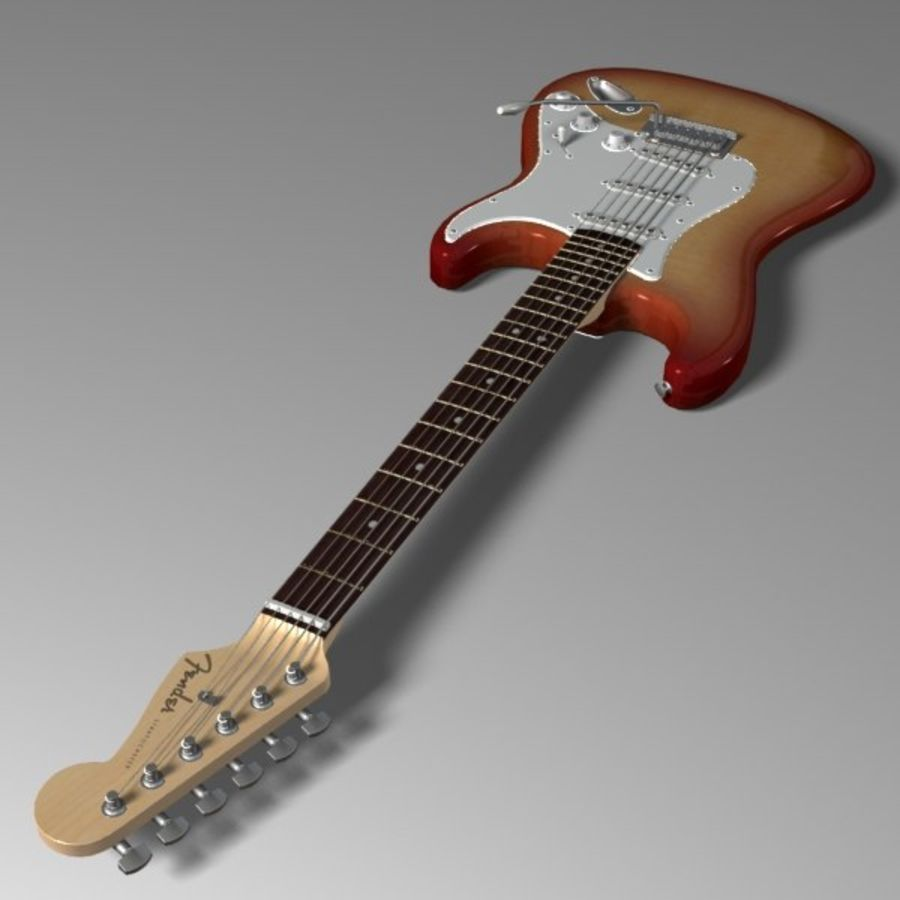 Stratocaster Sunburst royalty-free 3d model - Preview no. 5