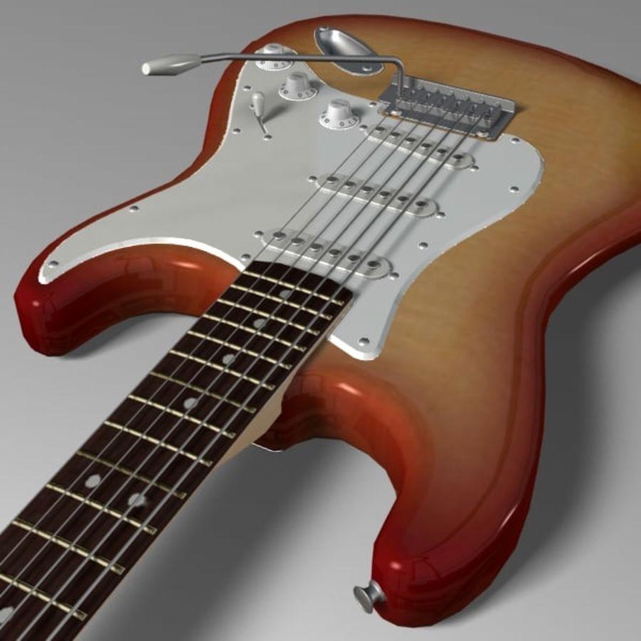 Stratocaster Sunburst royalty-free 3d model - Preview no. 6