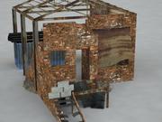 Ruina de tela modelo 3d