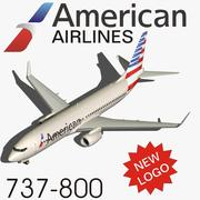 737-800 American Airlines (ny logotyp) 3d model