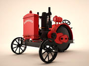 The First Soviet Tractor 3d model