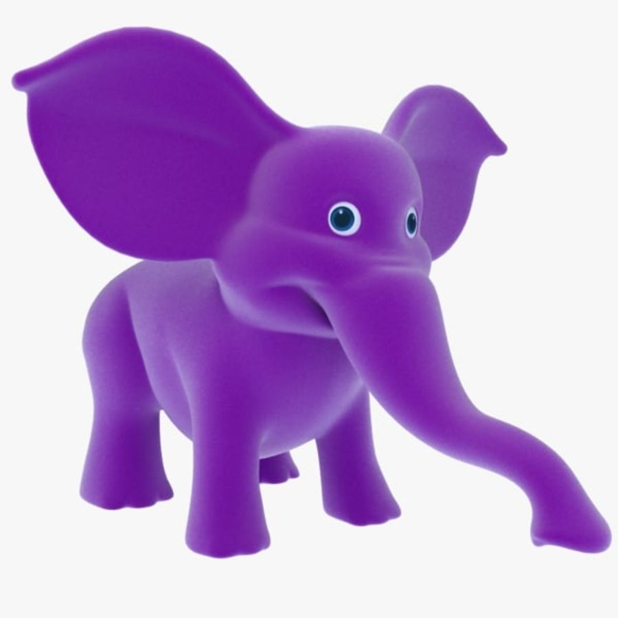 Éléphant de dessin animé royalty-free 3d model - Preview no. 1