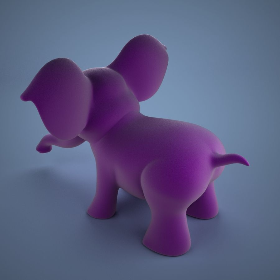 Éléphant de dessin animé royalty-free 3d model - Preview no. 5