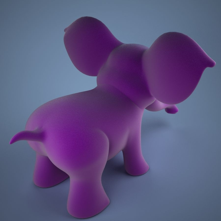 Éléphant de dessin animé royalty-free 3d model - Preview no. 3