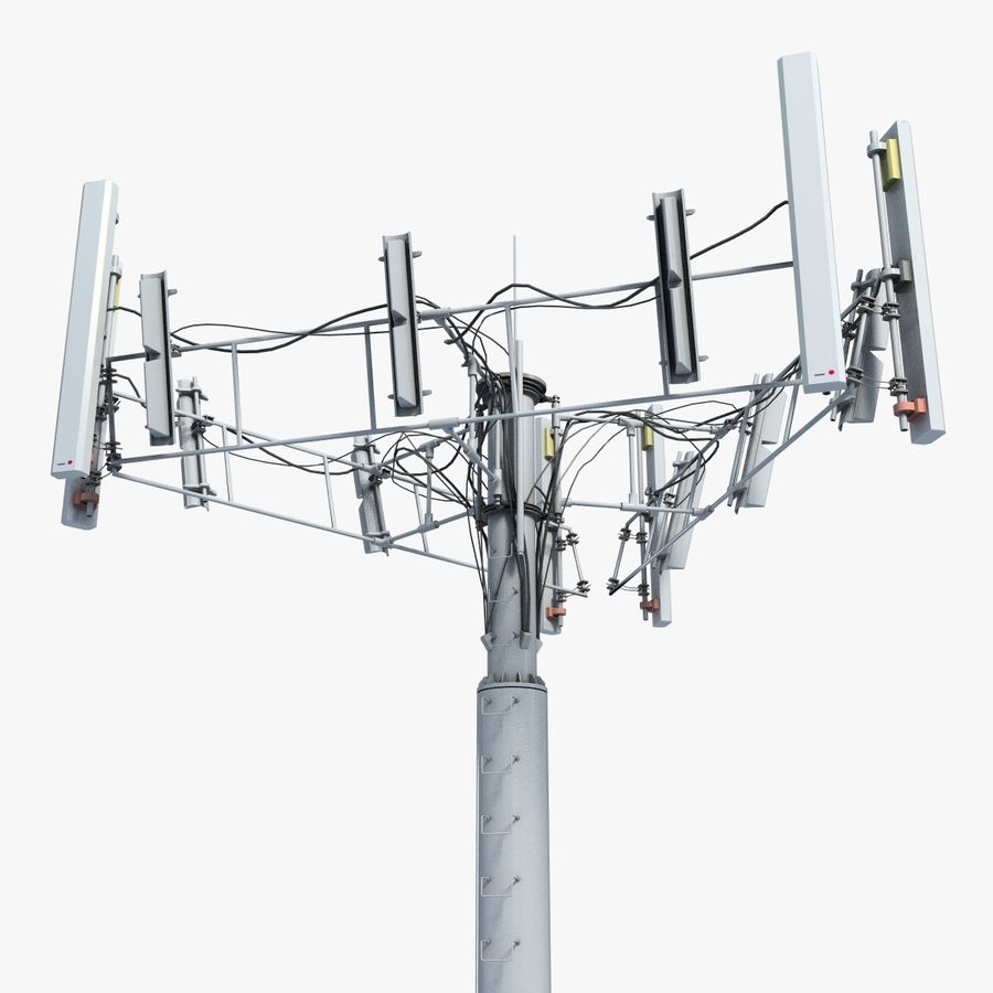 Communication Tower Antena 2 royalty-free 3d model - Preview no. 1