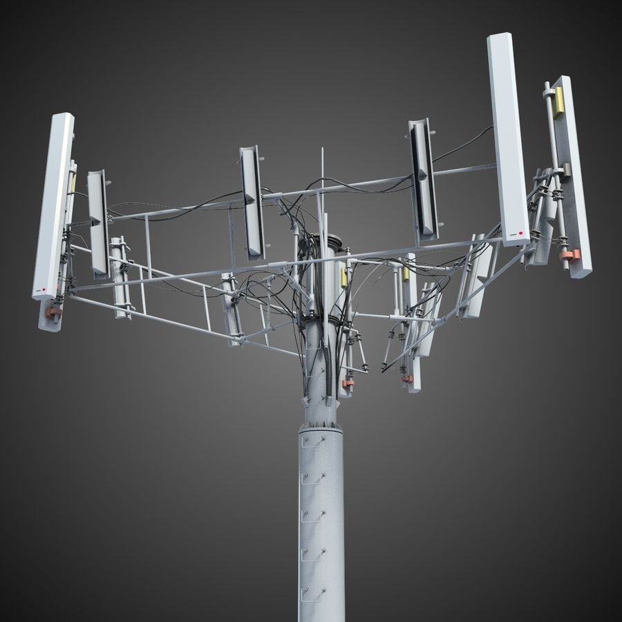 Communication Tower Antena 2 royalty-free 3d model - Preview no. 2