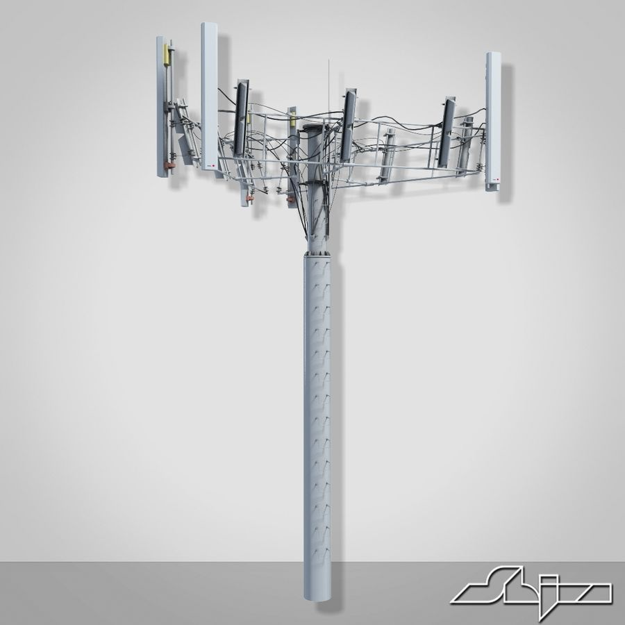 Communication Tower Antena 2 royalty-free 3d model - Preview no. 6