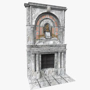 Marmurowy kominek 3d model
