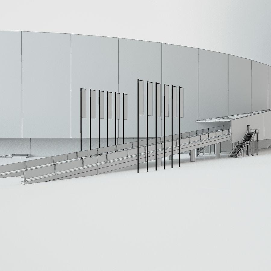 2014年ソチオリンピックスタジアム(1) royalty-free 3d model - Preview no. 8