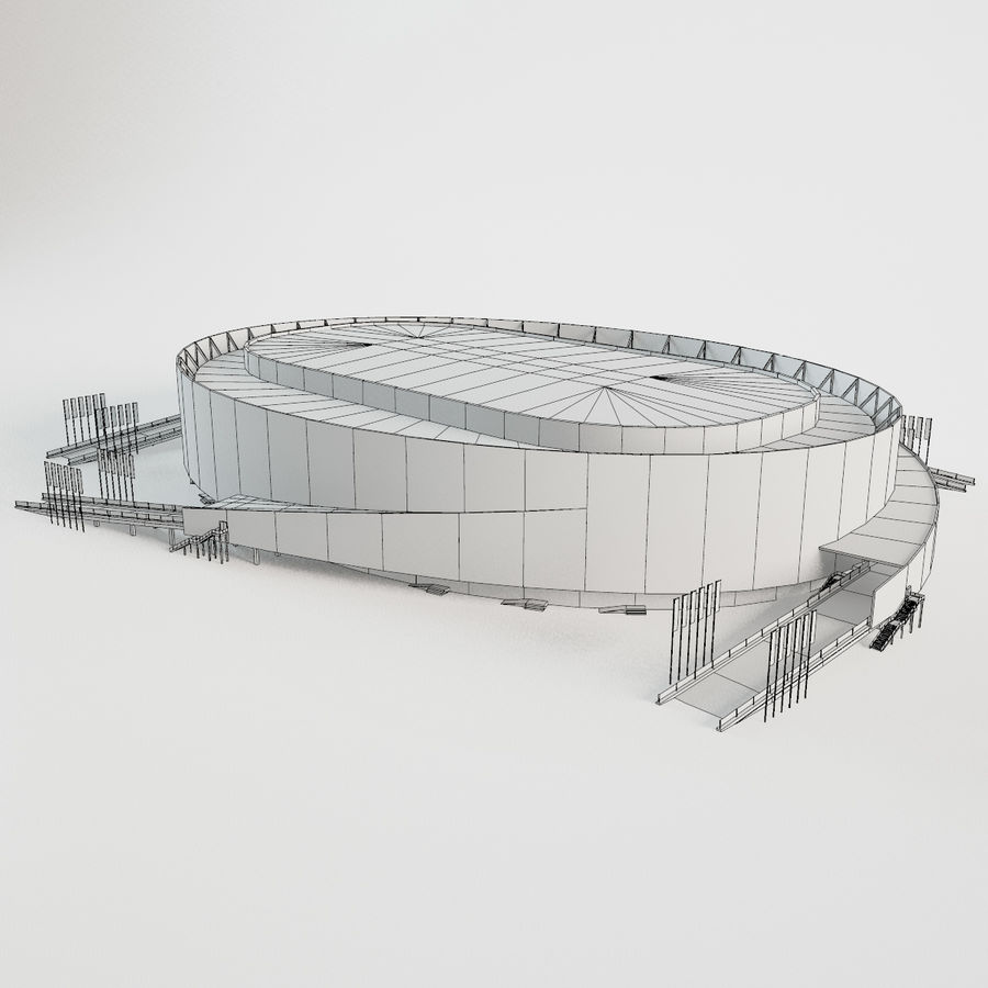 2014年ソチオリンピックスタジアム(1) royalty-free 3d model - Preview no. 7