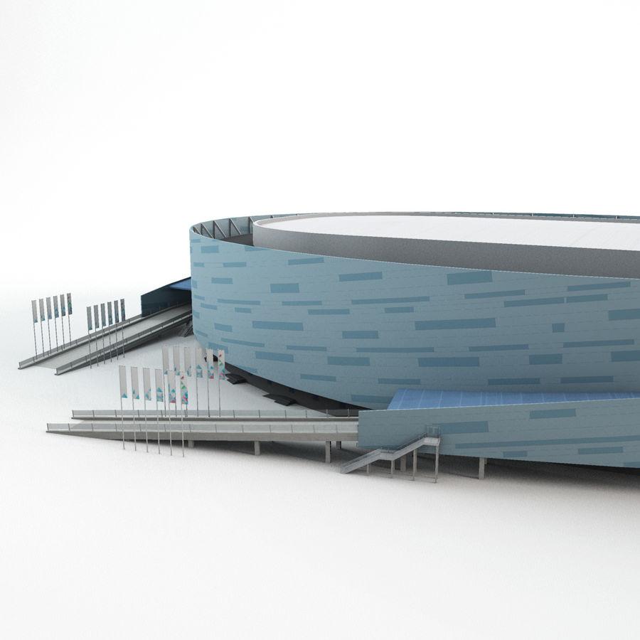 2014年ソチオリンピックスタジアム(1) royalty-free 3d model - Preview no. 3