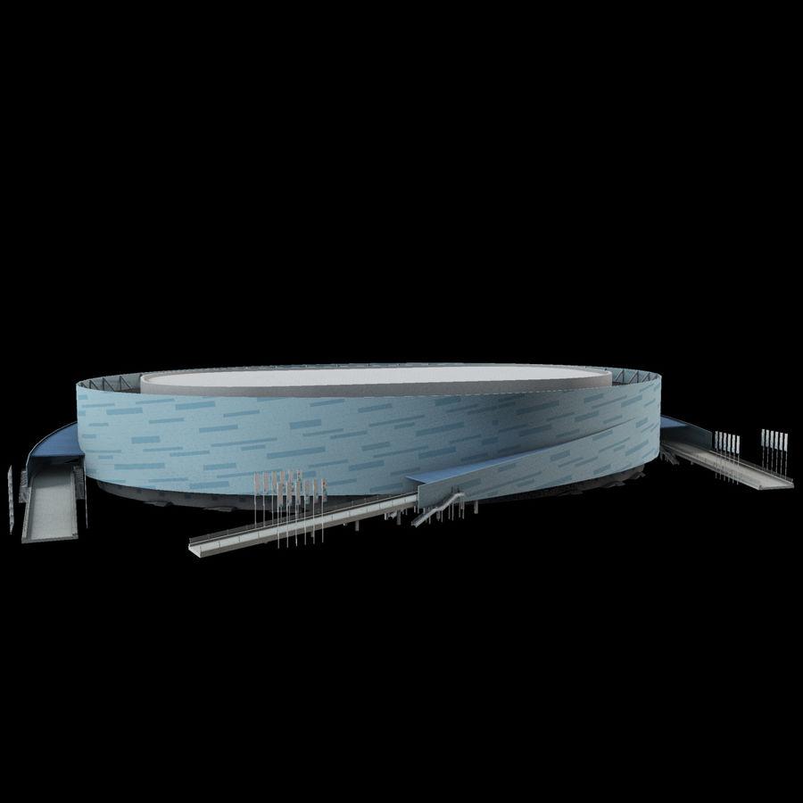 2014年ソチオリンピックスタジアム(1) royalty-free 3d model - Preview no. 2