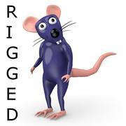 tecknad råtta - riggad 3d model