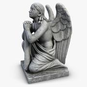 膝に彫像の天使 3d model