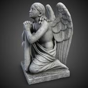 Standbeeld Angel On The Knnees 3d model