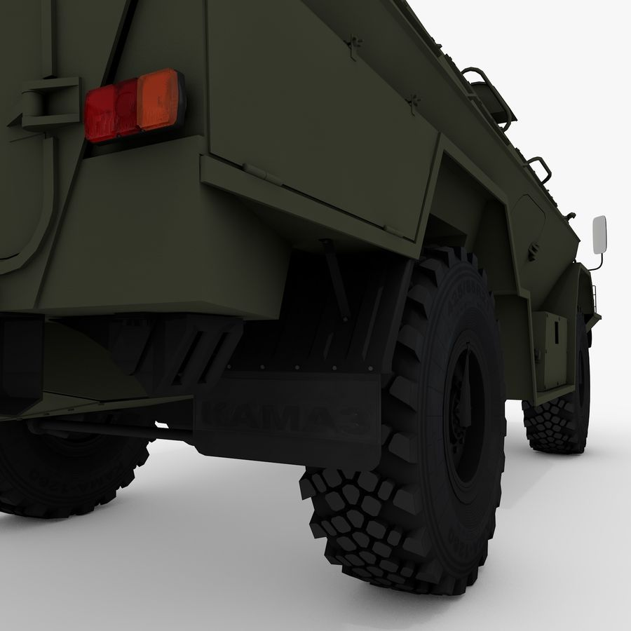 КАМАЗ-43269 Дозор 2009 royalty-free 3d model - Preview no. 15