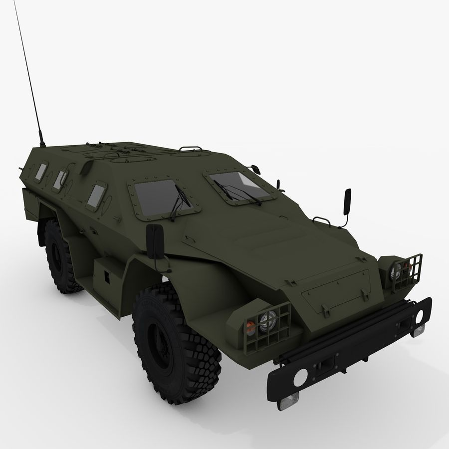 КАМАЗ-43269 Дозор 2009 royalty-free 3d model - Preview no. 6