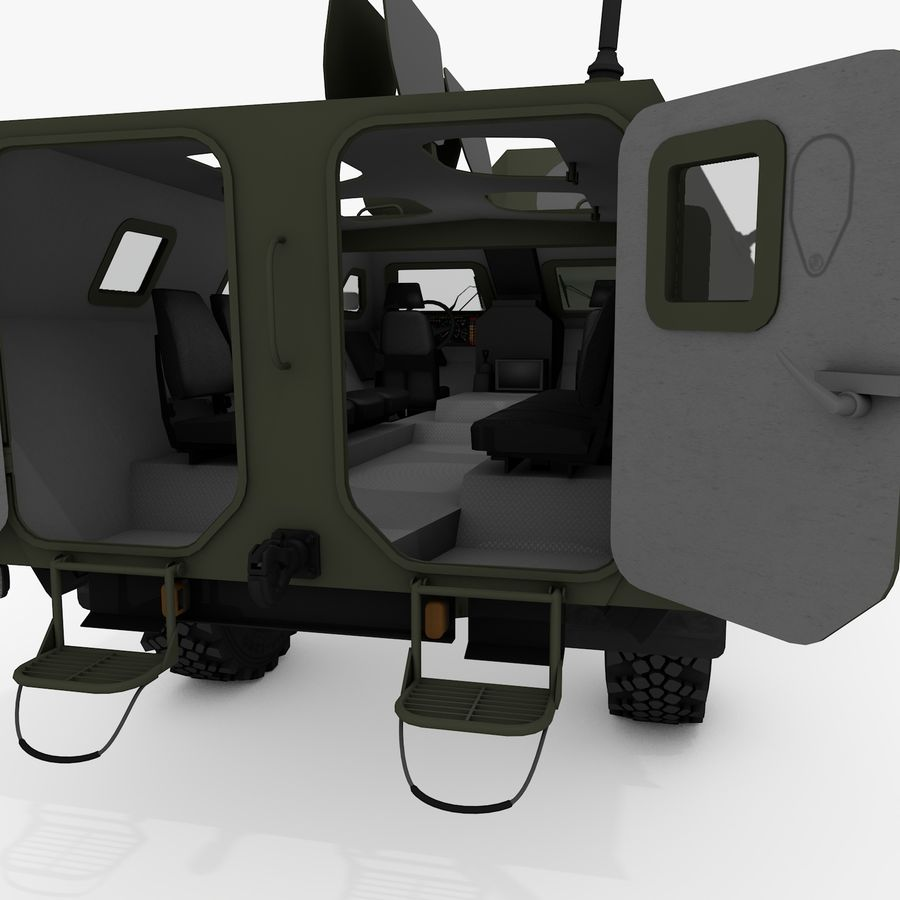 KAMAZ-43269 Dozor 2009 royalty-free 3d model - Preview no. 23