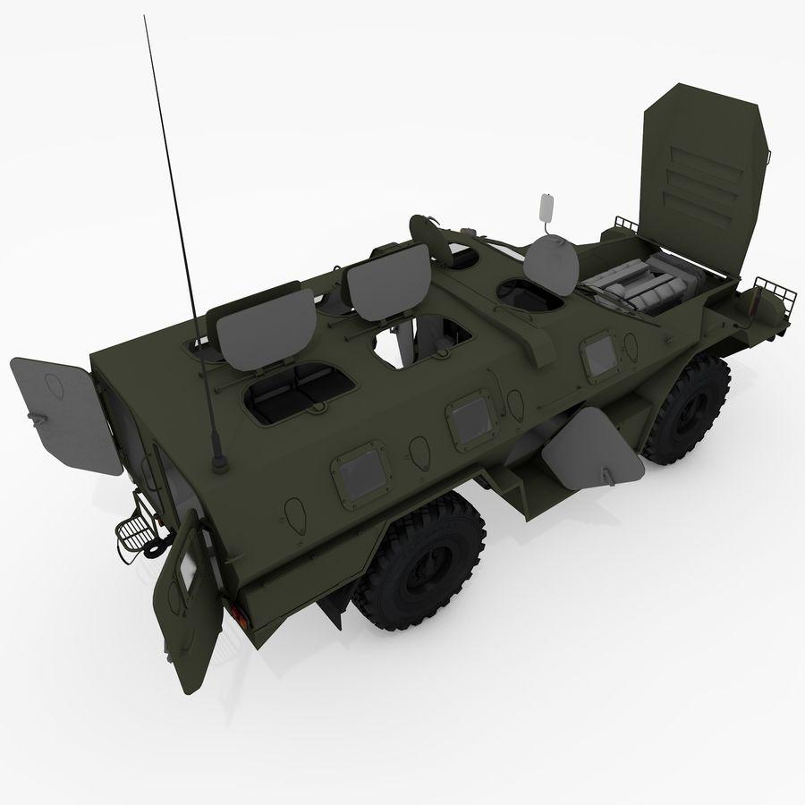 KAMAZ-43269 Dozor 2009 royalty-free 3d model - Preview no. 24
