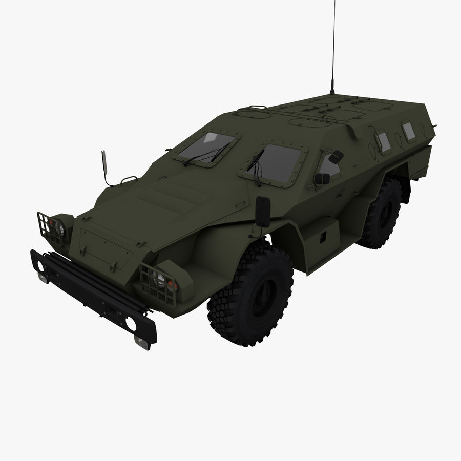 KAMAZ-43269 Dozor 2009 royalty-free 3d model - Preview no. 1