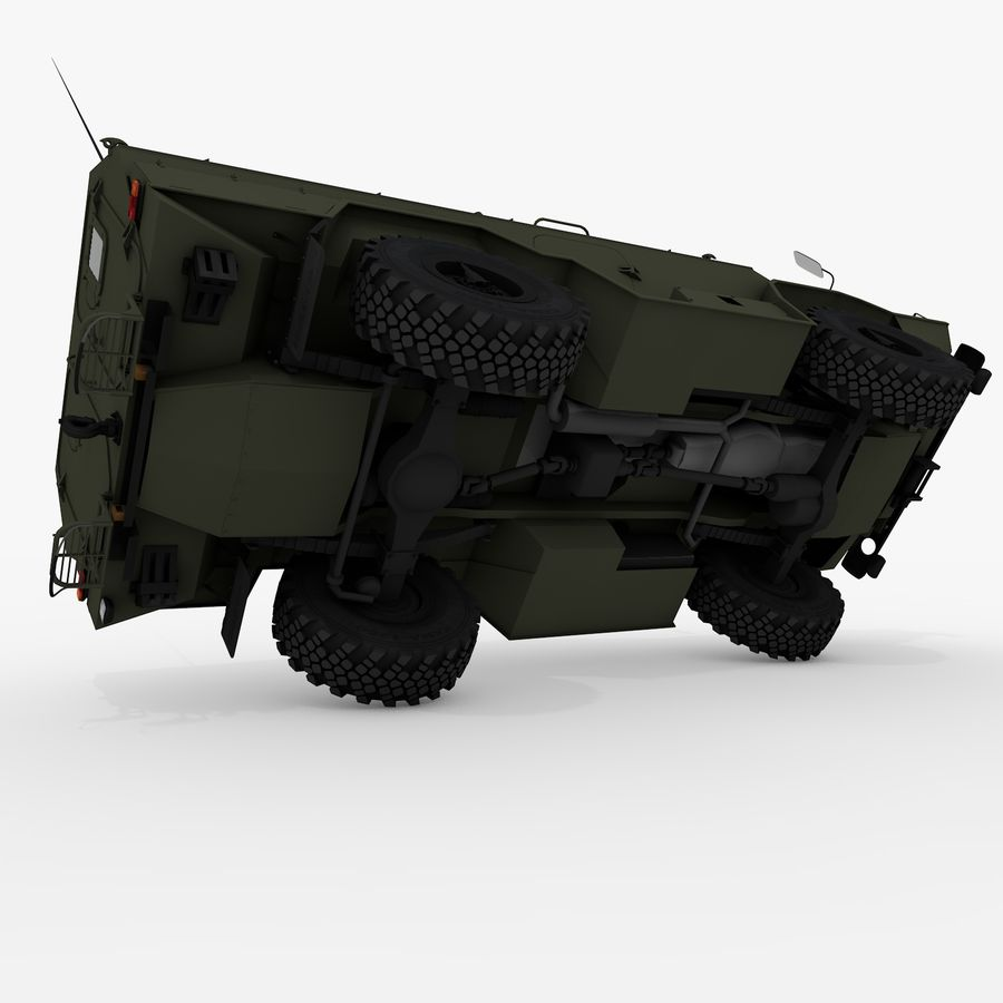 KAMAZ-43269 Dozor 2009 royalty-free 3d model - Preview no. 4