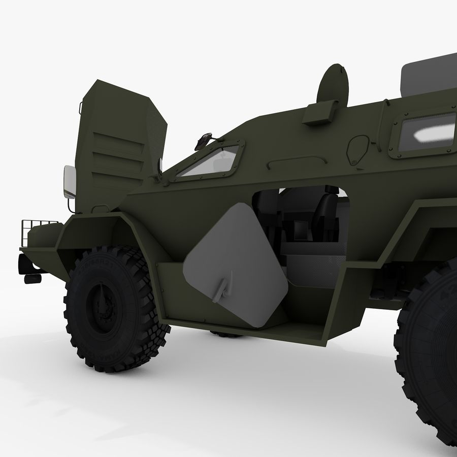 КАМАЗ-43269 Дозор 2009 royalty-free 3d model - Preview no. 30