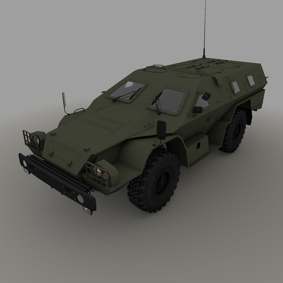 КАМАЗ-43269 Дозор 2009 royalty-free 3d model - Preview no. 2
